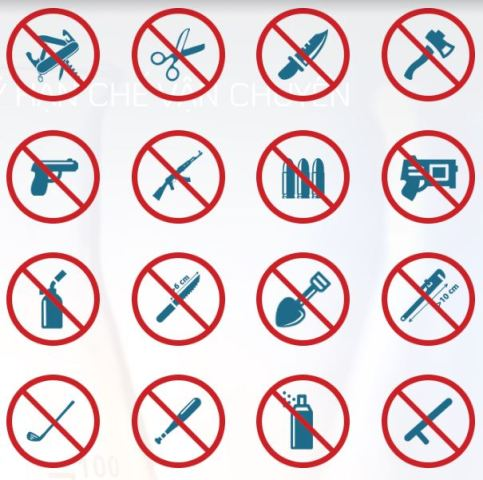 Những vật phẩm nào bị cấm mang lên máy bay?