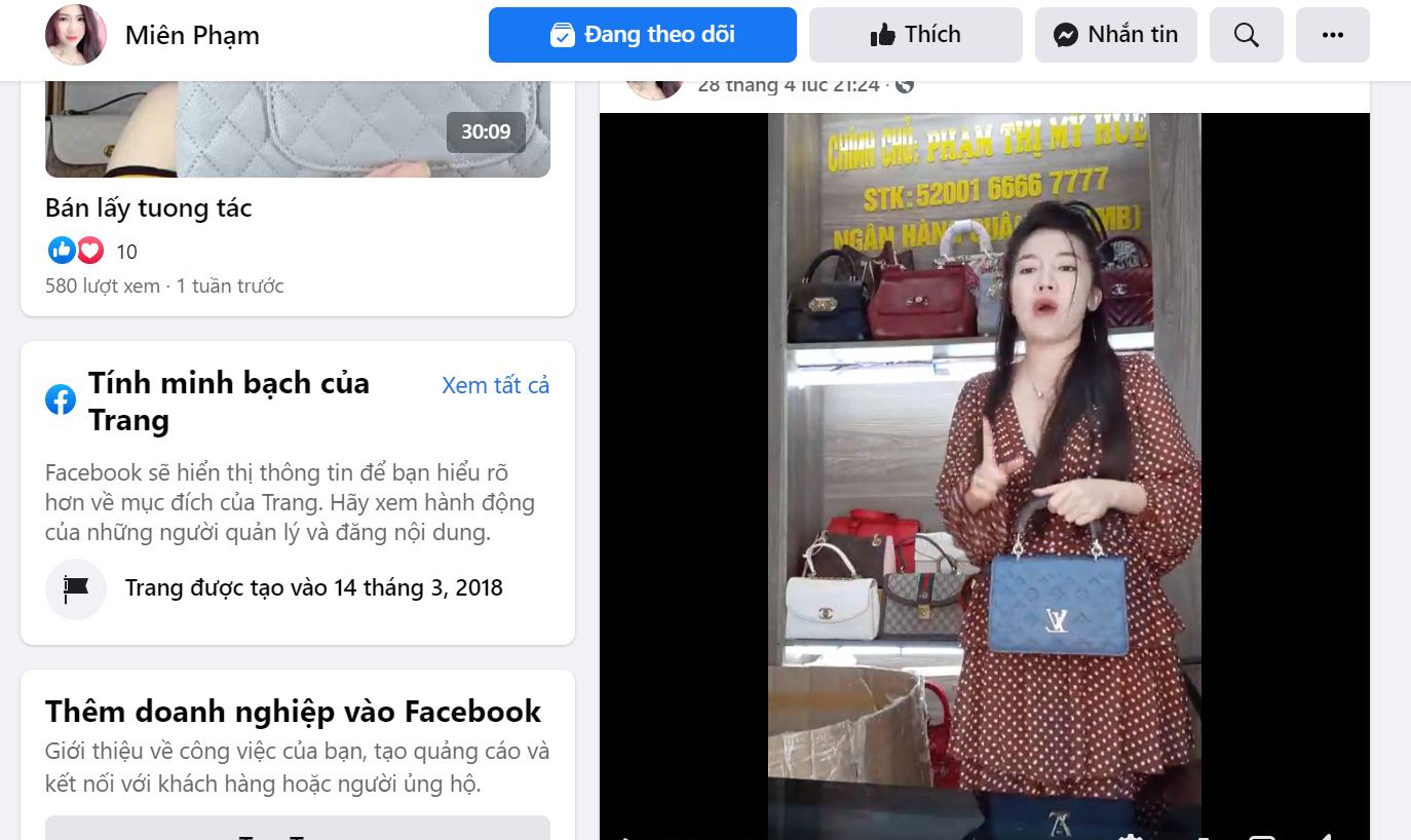 Buôn hàng hiệu rởm trên Facebook, một tiểu thương lĩnh phạt