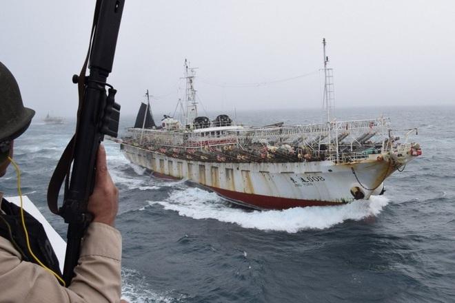 Hàng trăm tàu Trung Quốc bị cáo buộc đánh bắt trái phép gần Argentina - 1