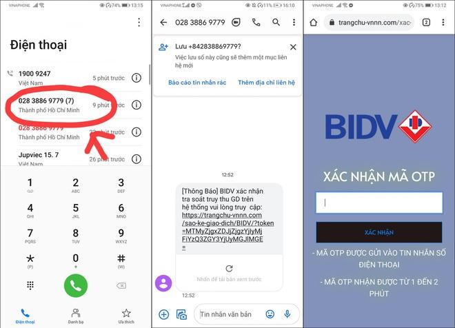 Nghe một cú điện thoại của nhân viên BIDV rởm, mất luôn 108 triệu đồng - 1