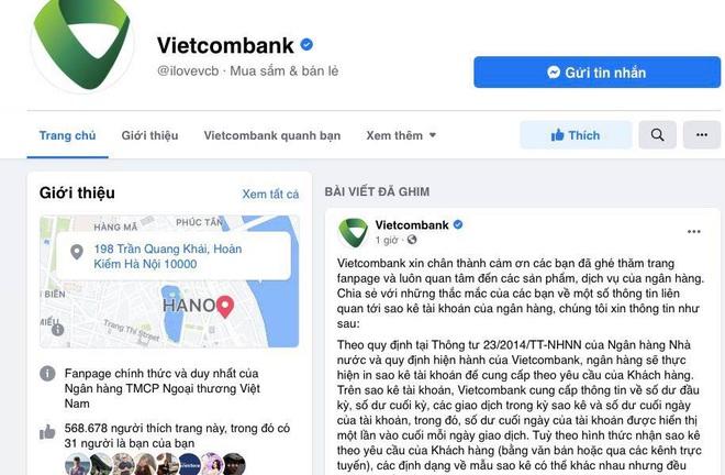 Vietcombank lên tiếng về sao kê - 1