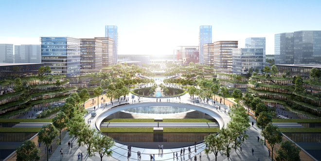 Ngắm ý tưởng kiến trúc khu trụ sở làm việc 12 bộ, ngành sắp xây ở Hà Nội - 2