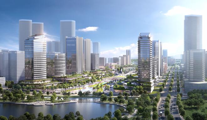 Ngắm ý tưởng kiến trúc khu trụ sở làm việc 12 bộ, ngành sắp xây ở Hà Nội - 3