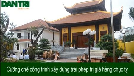 Công trình xây dựng trái phép ở phường Dịch Vọng Hậu đã bị xử lý