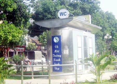 Nhà vệ sinh công cộng đảm bảo vệ sinh môi trường của Hà Nội (ảnh giadinh.net)