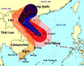 Bão Haiyan quét dọc miền Trung rồi đổ về Đồng bằng Bắc bộ