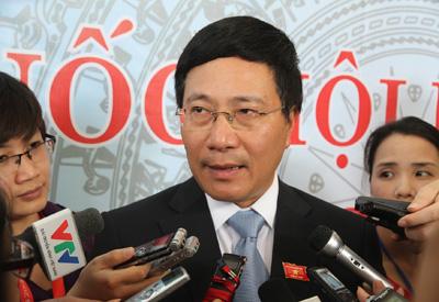 Tân Phó Thủ tướng Phạm Bình Minh nói về bảo vệ chủ quyền biển đảo