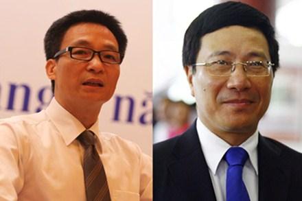Ông Vũ Đức Đam, Phạm Bình Minh chính thức trở thành Phó Thủ tướng