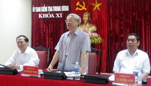 UB Kiểm tra Trung ương xem xét kỷ luật một số tổ chức, đảng viên
