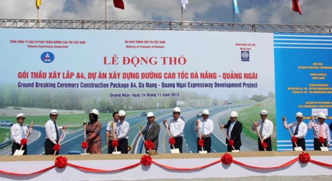 Khởi công đường cao tốc 1,4 tỉ USD kết nối miền Trung