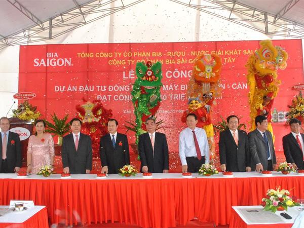 450 tỷ đồng nâng công suất Bia Sài Gòn - Cần Thơ