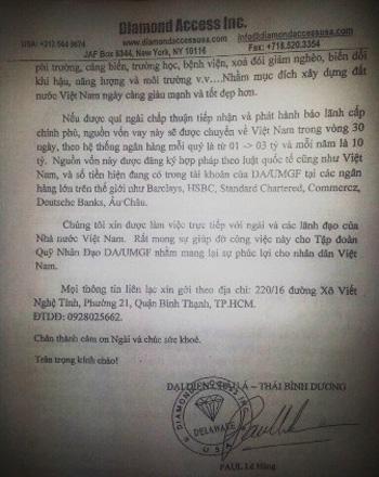 """Hành tung bí ẩn của Việt kiều """"viện trợ 10 tỉ USD"""""""