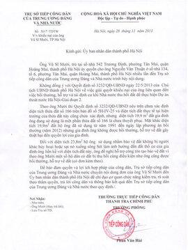 Thanh tra Chính phủ đề nghị làm rõ vụ thu hồi đất ở phường Tân Mai