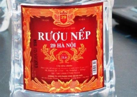 Niêm phong, tạm đóng cửa Cty SX rượu nếp 29 Hà Nội