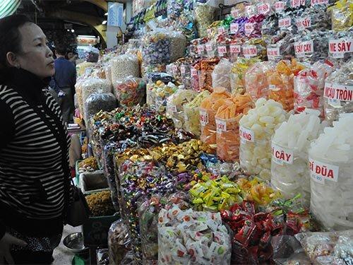 Kẹo mứt Trung Quốc tung hoành tại các chợ
