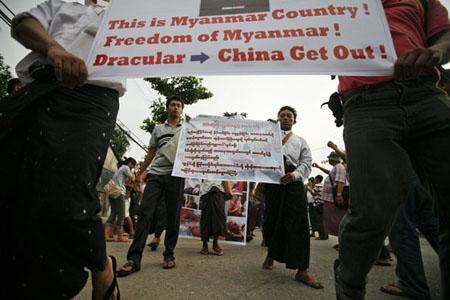 Nhiều dự án của doanh nghiệp Trung Quốc tại Myanmar bị người dân biểu tình phản đối