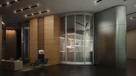 Các cư dân có thể lái xe thẳng vào thang máy thay vì phải đi bộ qua sảnh