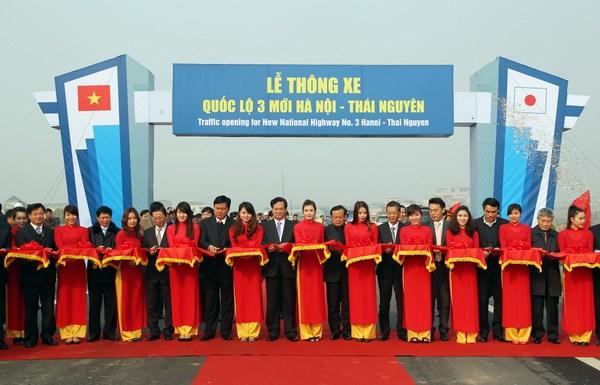 Thông xe toàn tuyến cao tốc Hà Nội-Thái Nguyên