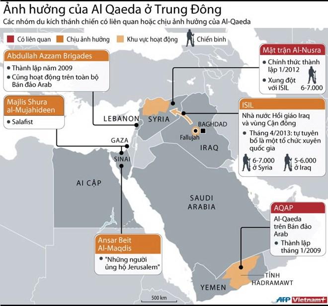 [INFOGRAPHIC] Những ảnh hưởng của Al-Qaeda ở Trung Đông