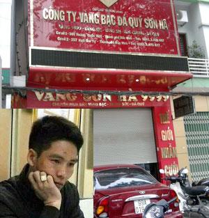 Tiệm vàng Sơn Hà, nơi xảy ra vụ trộm và đối tượng Hùng.
