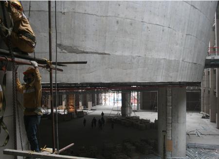 Công trình Nhà Quốc hội đang bước vào giai đoạn thi công hoàn thiện