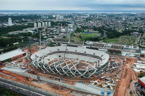 Sân Arena Amazonia đang được đẩy nhanh tiến độ xây dựng