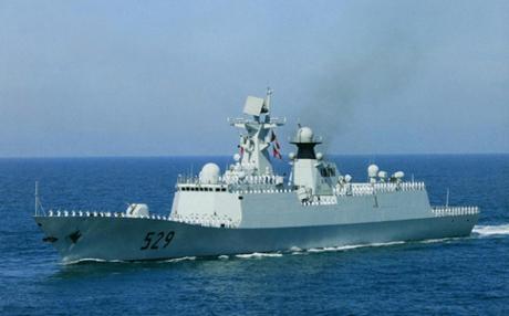 Khu trục hạm Zhoushan của hải quân Trung Quốc.