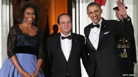 Tổng thống Pháp được chiêu đãi quốc yến tại Nhà Trắng