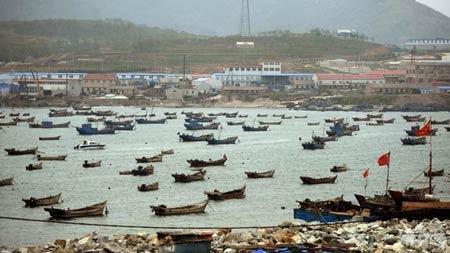 Một cảng ở Đại Liên, Liêu Ninh, Trung Quốc.
