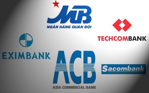 Cách biệt quá lớn trong top 5 ngân hàng cổ phần!