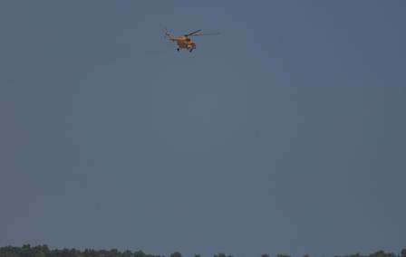 Chiếc Mi 171 số hiệu 02 hướng về đảo Thổ Chu, cách Phú Quốc gần 300km. (Ảnh: Công Quang)