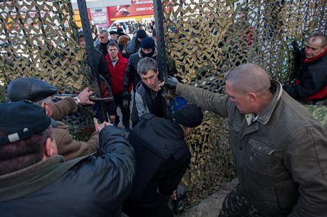 Các nguồn tin cho biết vụ đột chiếm diễn ra khá nhanh do các Ukraine không kháng cự.