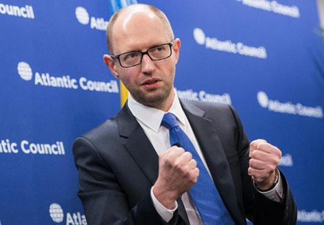 Thủ tướng lâm thời Ukraine Arseniy Yatsenyuk.