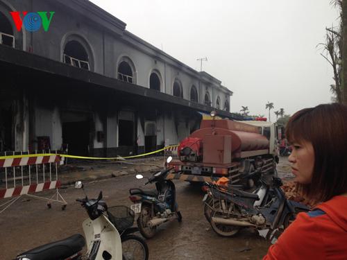 Cháy chợ Phố Hiến: Thiệt hại ước tính khoảng 50 tỷ đồng