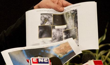 Tổng cộng 122 vật thể đã được nhận dạng qua ảnh vệ tinh.