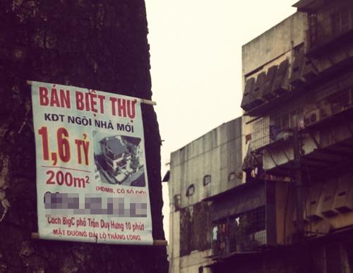 Chuyện lạ Hà Nội: Biệt thự trăm mét rẻ hơn chung cư
