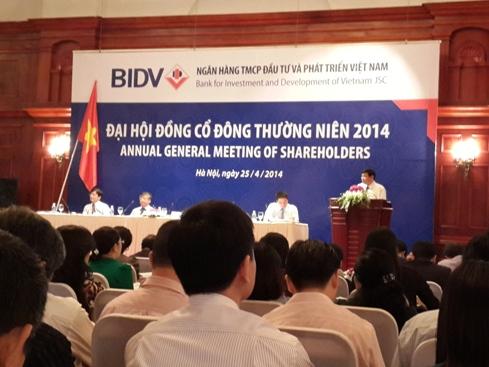 Chủ tịch BIDV Trần Bắc Hà đồng ý đề xuất tăng cổ tức 2014