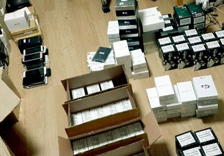 Bắt gần 500 điện thoại Trung Quốc