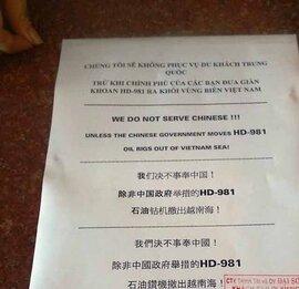 Không đón khách Tàu, hủy tour đi Trung Quốc