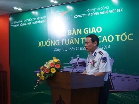 Đạm Phú Mỹ tặng xuồng tuần tra cao tốc cho cảnh sát biển Việt Nam