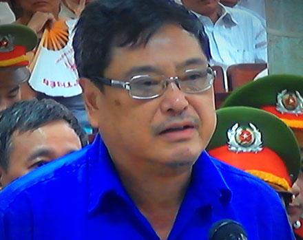 Trịnh Kim Quang cho rằng việc mua cổ phiếu là do Kiên chỉ đạo. (Ảnh, Tuấn Hợp).