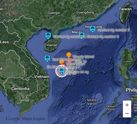 Trung Quốc ồ ạt đưa thêm 4 giàn khoan vào Biển Đông