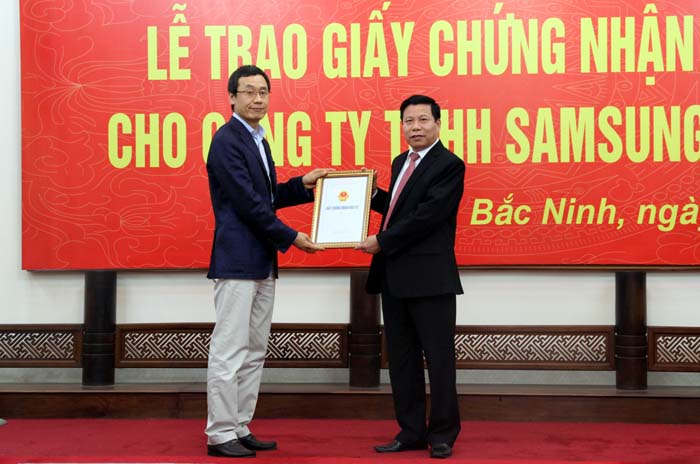 Bắc Ninh cấp phép cho dự án tỷ đô của Samsung Display