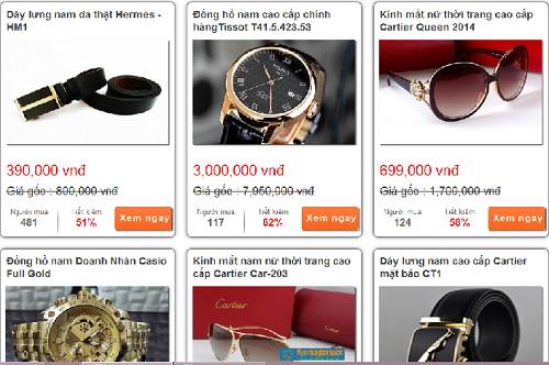 Nở rộ web mô hình mua chung bán hàng hiệu