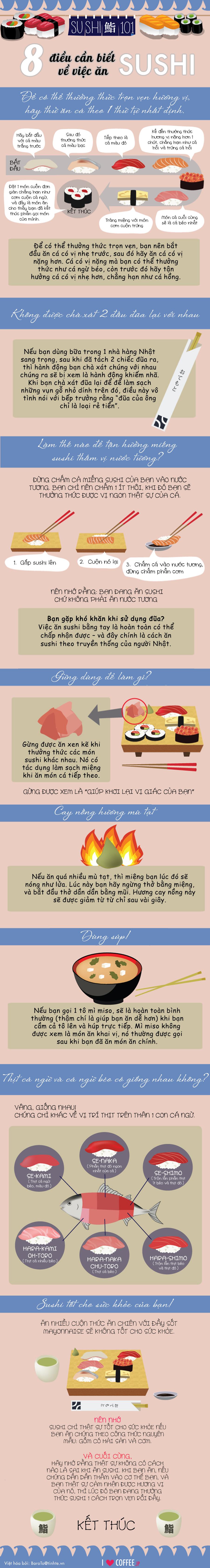 [INFOGRAPHIC] 8 điều cần biết khi ăn sushi