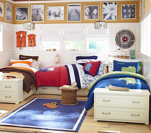 Phòng ngủ chung dành tặng hai bé