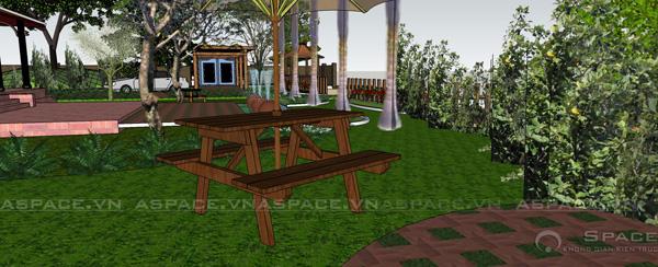 Thiết kế nhà vườn 1.500m2 có nhà Rường Huế