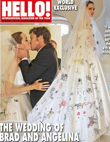 Brangelina thu được 5 triệu USD tiền bán ảnh cưới