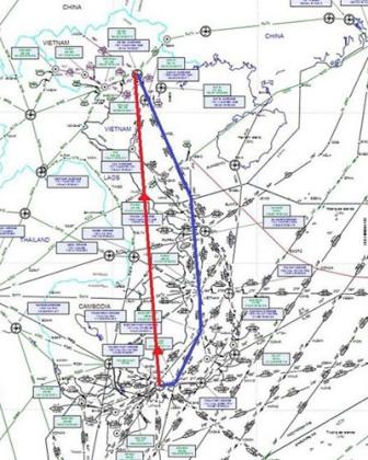 Trên bản đồ trải phẳng, đường thẳng chỉ là đường thẳng mà chưa bao gồm các phương thức bay