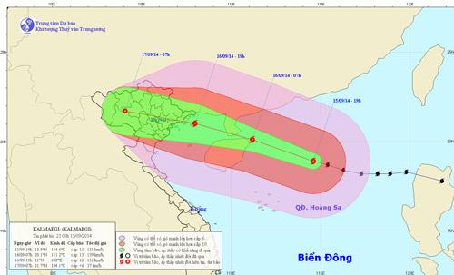 """Đêm mai, tâm bão """"đổ bộ"""" Quảng Ninh - Hải Phòng, miền Bắc mưa to"""